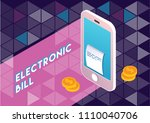 concept of electronic bill and... | Shutterstock .eps vector #1110040706