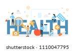 health concept illustration.... | Shutterstock .eps vector #1110047795