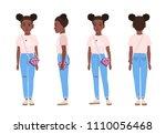 african american teenage girl... | Shutterstock .eps vector #1110056468