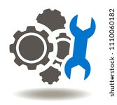 gears mechanism spanner icon...   Shutterstock .eps vector #1110060182
