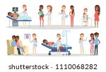 pregnancy at clinic. from x ray ... | Shutterstock .eps vector #1110068282
