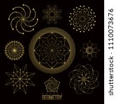 sacred geometry forms  shapes...   Shutterstock .eps vector #1110073676