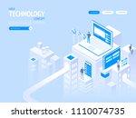 high technology concept.... | Shutterstock .eps vector #1110074735