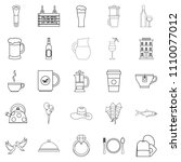 spirit icons set. outline set... | Shutterstock . vector #1110077012