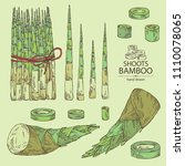 collection of bamboo shoots ... | Shutterstock .eps vector #1110078065