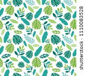 seamless pattern with tropical... | Shutterstock .eps vector #1110083528