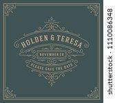 wedding invitation card design... | Shutterstock .eps vector #1110086348