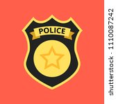 police officer badge icon.... | Shutterstock .eps vector #1110087242