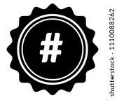 hashtag vector icon | Shutterstock .eps vector #1110088262