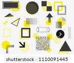 universal trend halftone... | Shutterstock .eps vector #1110091445