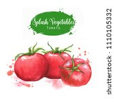 hand drawn watercolor food... | Shutterstock . vector #1110105332