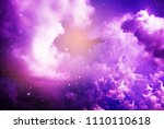 space of night sky with cloud... | Shutterstock . vector #1110110618