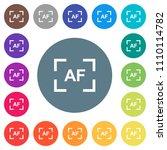 camera autofocus mode flat... | Shutterstock .eps vector #1110114782