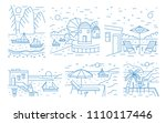 collection of summer landscapes ... | Shutterstock .eps vector #1110117446