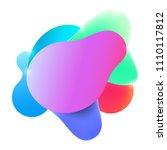 plastic colorful shapes. fluid... | Shutterstock .eps vector #1110117812