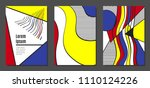covers templates set with... | Shutterstock .eps vector #1110124226