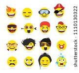 creative emoji emoticons 9   Shutterstock .eps vector #1110130322