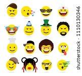 creative emoji emoticons ...   Shutterstock .eps vector #1110130346