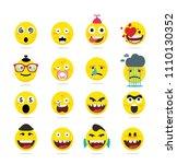 creative emoji emoticons ...   Shutterstock .eps vector #1110130352