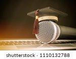 graduate study or education... | Shutterstock . vector #1110132788
