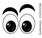 cartoon scene with eyes on... | Shutterstock . vector #1110141566