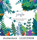 jungle banner  vector... | Shutterstock .eps vector #1110153038
