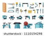 set of carpentry tools. big... | Shutterstock .eps vector #1110154298