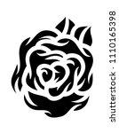 flower rose  black and white.... | Shutterstock .eps vector #1110165398
