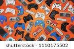 video game controller... | Shutterstock . vector #1110175502