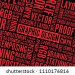 graphic design red background | Shutterstock .eps vector #1110176816