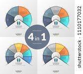 bundle of infographic design... | Shutterstock .eps vector #1110177032
