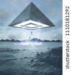 3d rendering alien fantasy...   Shutterstock . vector #1110181292