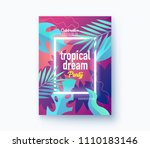 hello summer holiday and summer ... | Shutterstock .eps vector #1110183146