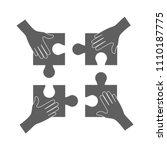 teamwork concept  hands holding ...   Shutterstock .eps vector #1110187775