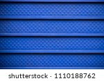 blue steel wall background and... | Shutterstock . vector #1110188762