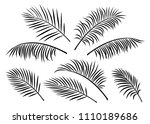 tropical set of palm leaves | Shutterstock .eps vector #1110189686