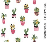 seamless vector pattern with... | Shutterstock .eps vector #1110191858