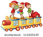illustration of a kids playing... | Shutterstock .eps vector #111020135