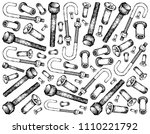 manufacturing and industry ... | Shutterstock . vector #1110221792
