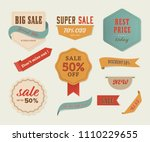 sale banner and label and... | Shutterstock .eps vector #1110229655
