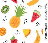 minimal summer trendy vector... | Shutterstock .eps vector #1110233942
