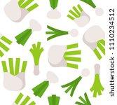 vegetable seamless pattern ... | Shutterstock .eps vector #1110234512