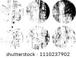 set of grunge textures in black ... | Shutterstock .eps vector #1110237902