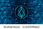 a new crypto currency  to... | Shutterstock .eps vector #1110240662