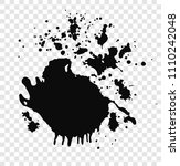 hand drawn set of black paint... | Shutterstock .eps vector #1110242048