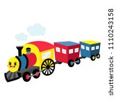 steam train transportation... | Shutterstock .eps vector #1110243158