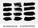 set of hand drawn paint object... | Shutterstock .eps vector #1110244532