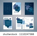 cover book design set  blue... | Shutterstock .eps vector #1110247388