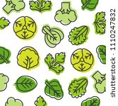 seamless outline vegetable...   Shutterstock .eps vector #1110247832