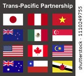 tpp trans pacific partnership ... | Shutterstock .eps vector #1110249755